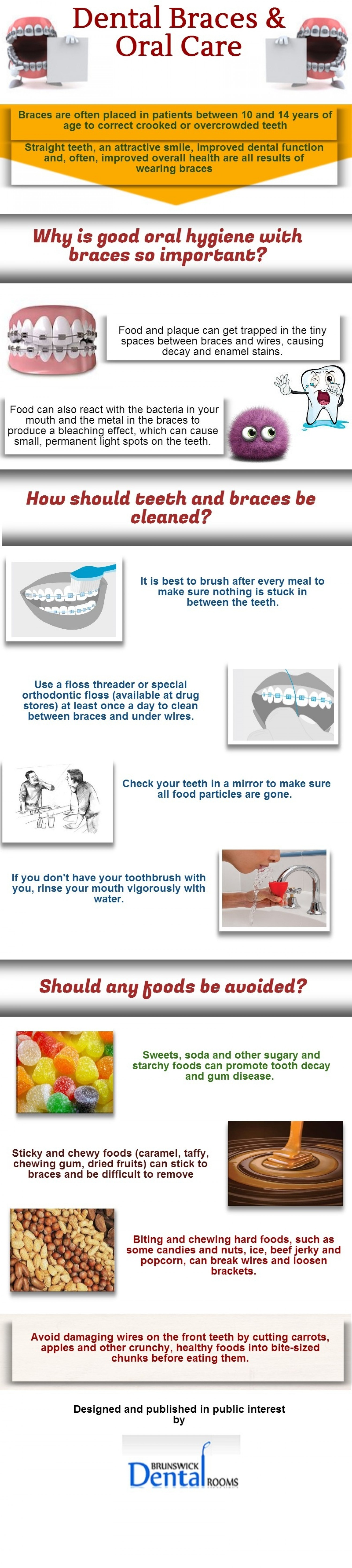 How to take care of your dental brace infographic