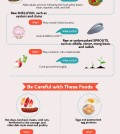 Foods that you should avoid while you are pregnant infographics