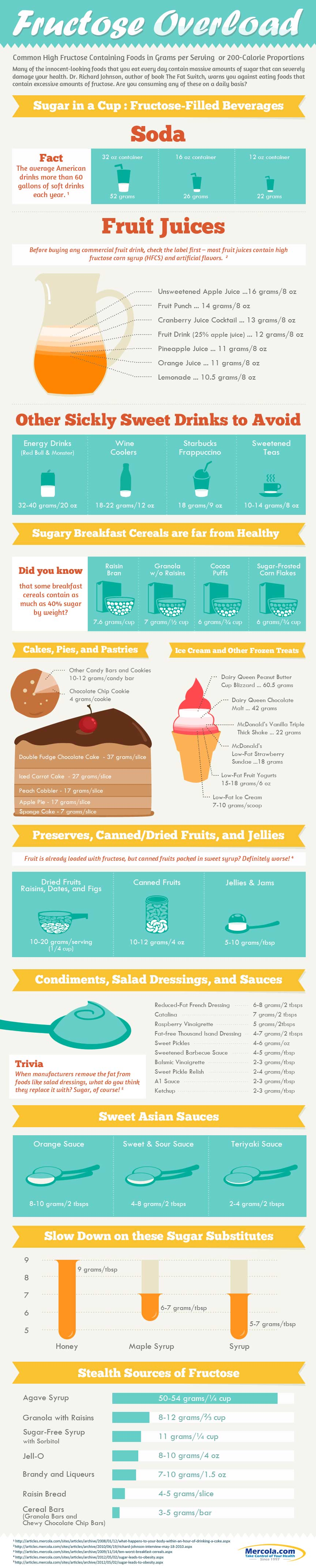 Fructose Hazards Infographic