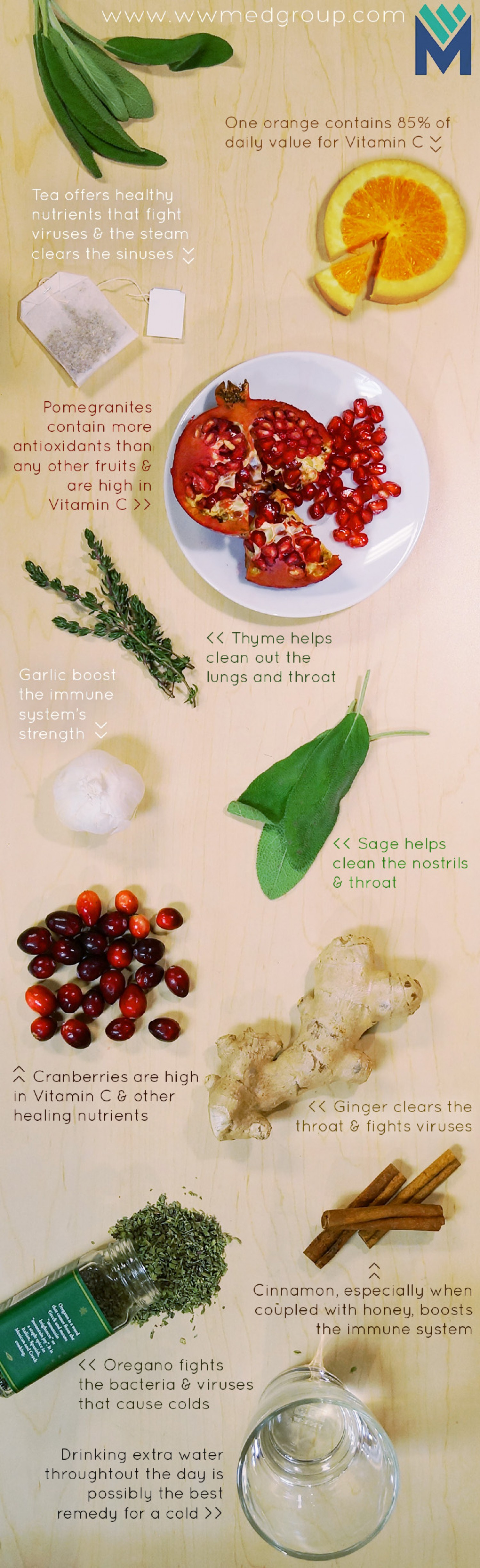 Foods that treat colds infographic