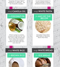 Cravings? 11 Healthy Replacements for Unhealthy Things Infographics