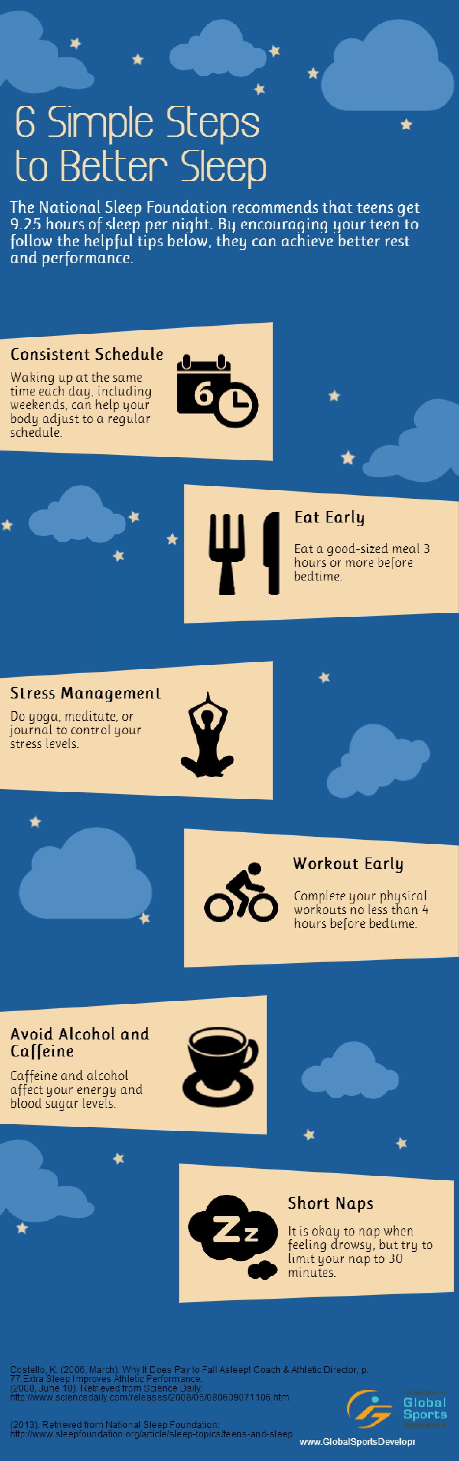 6 Simple Stepts to Better Sleep by visual.y