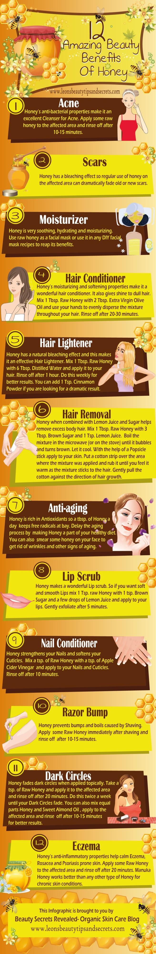 Beauty Benefits of Honey Infographic