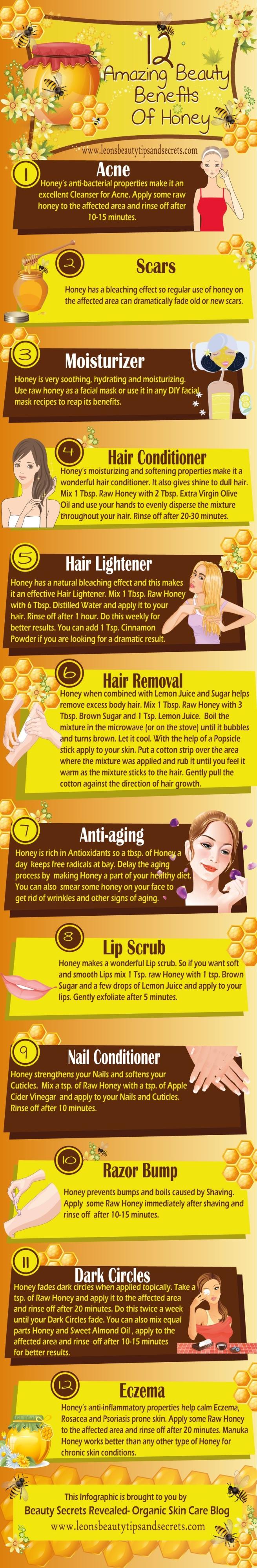 Beauty Benefits of Honey Infographic