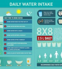 16 Facts about Daily Water Intake Infographic