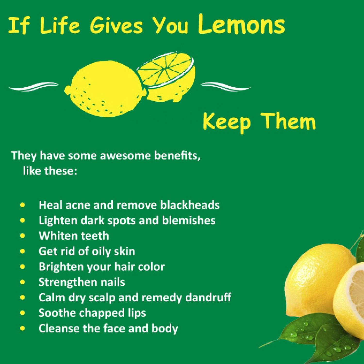 Health Benefits of Lemons for Skin Care