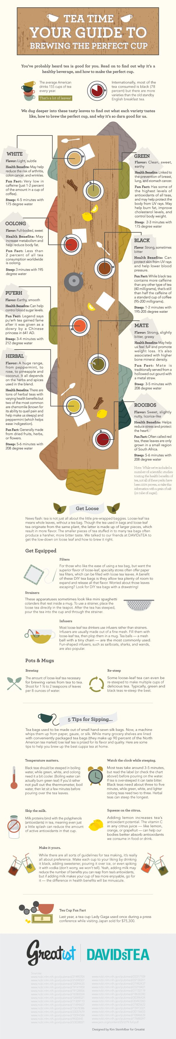 Tea Selection and Brewing Guide Infographic