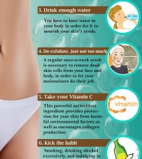 8 Ways to Great Skin Infographic