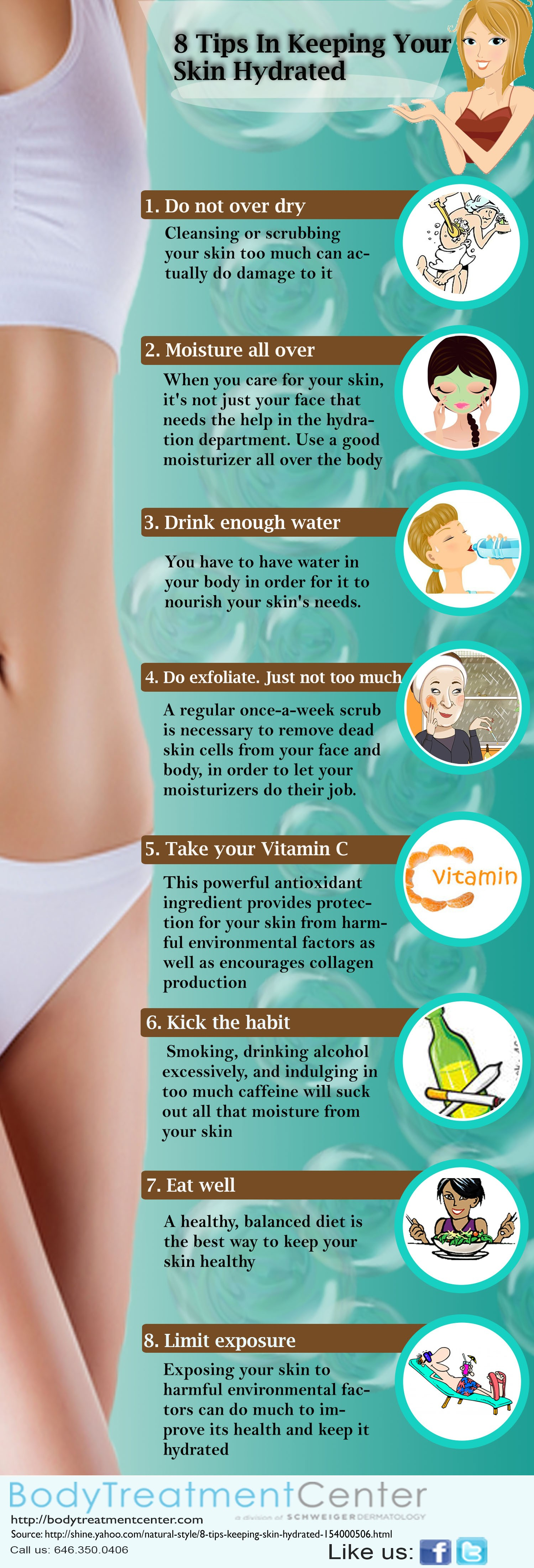 9 Ways to Get Great Skin Infographic