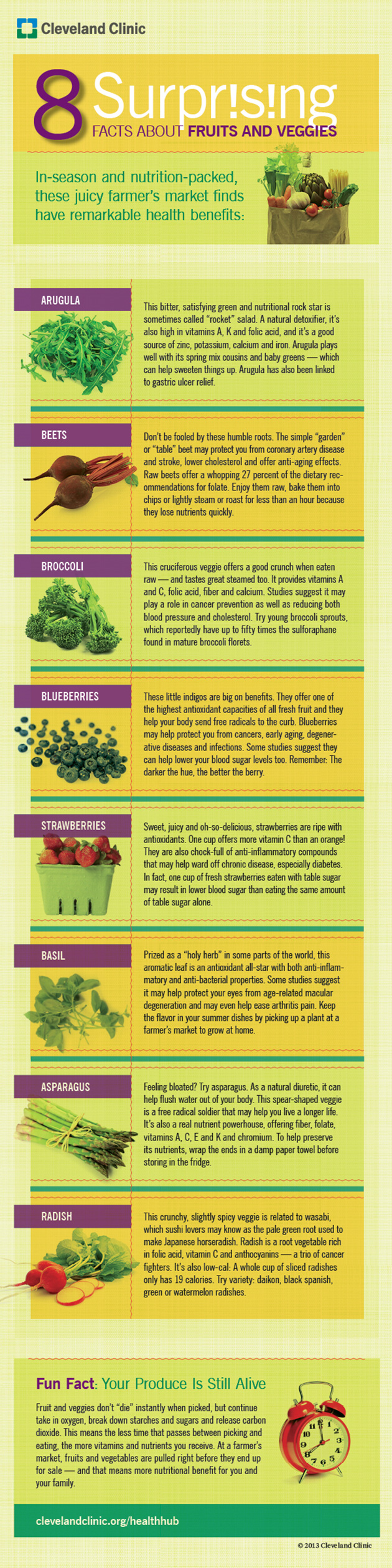 8 True Facts About Fruits And Veggies Infographic