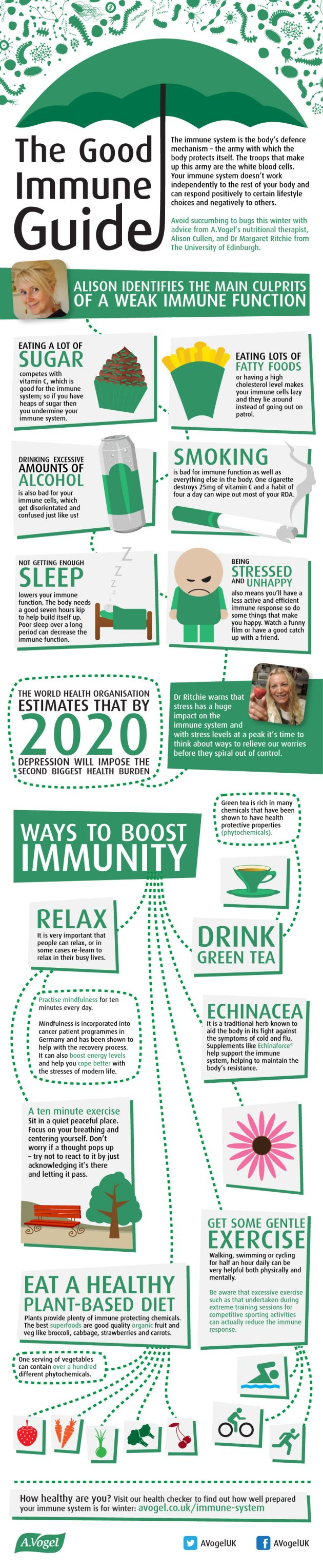 5 Tips To Boost Immunity Infographic