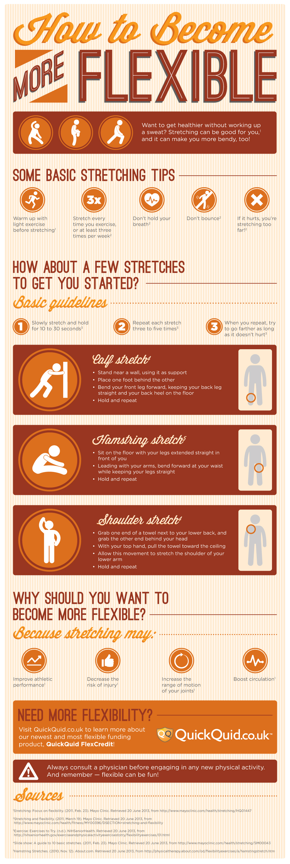 How To Be More Flexible Infographic