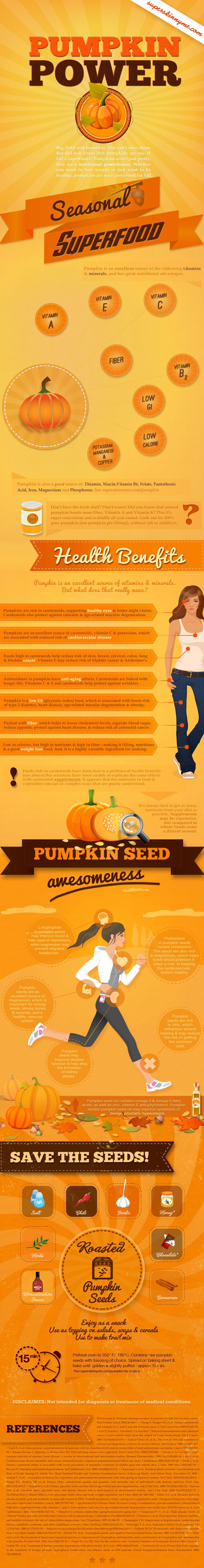 12 Pumpkin Benefits Infographic