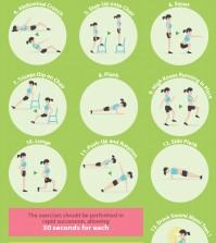 7 Minutes Exercise Infographic