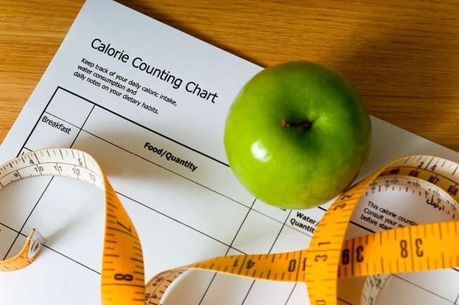 dieting apple calorie counting