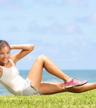 Exercising fitness woman