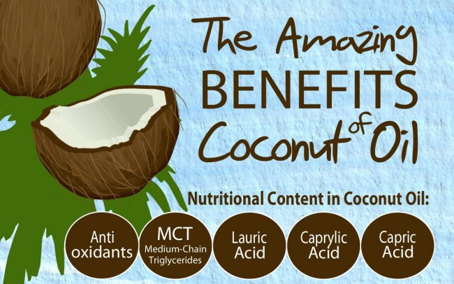 9 Coconut Oil Benefits For Your Health Infographic