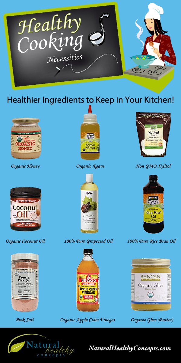 9 Must Have Ingredients In Every Kitchen Infographic