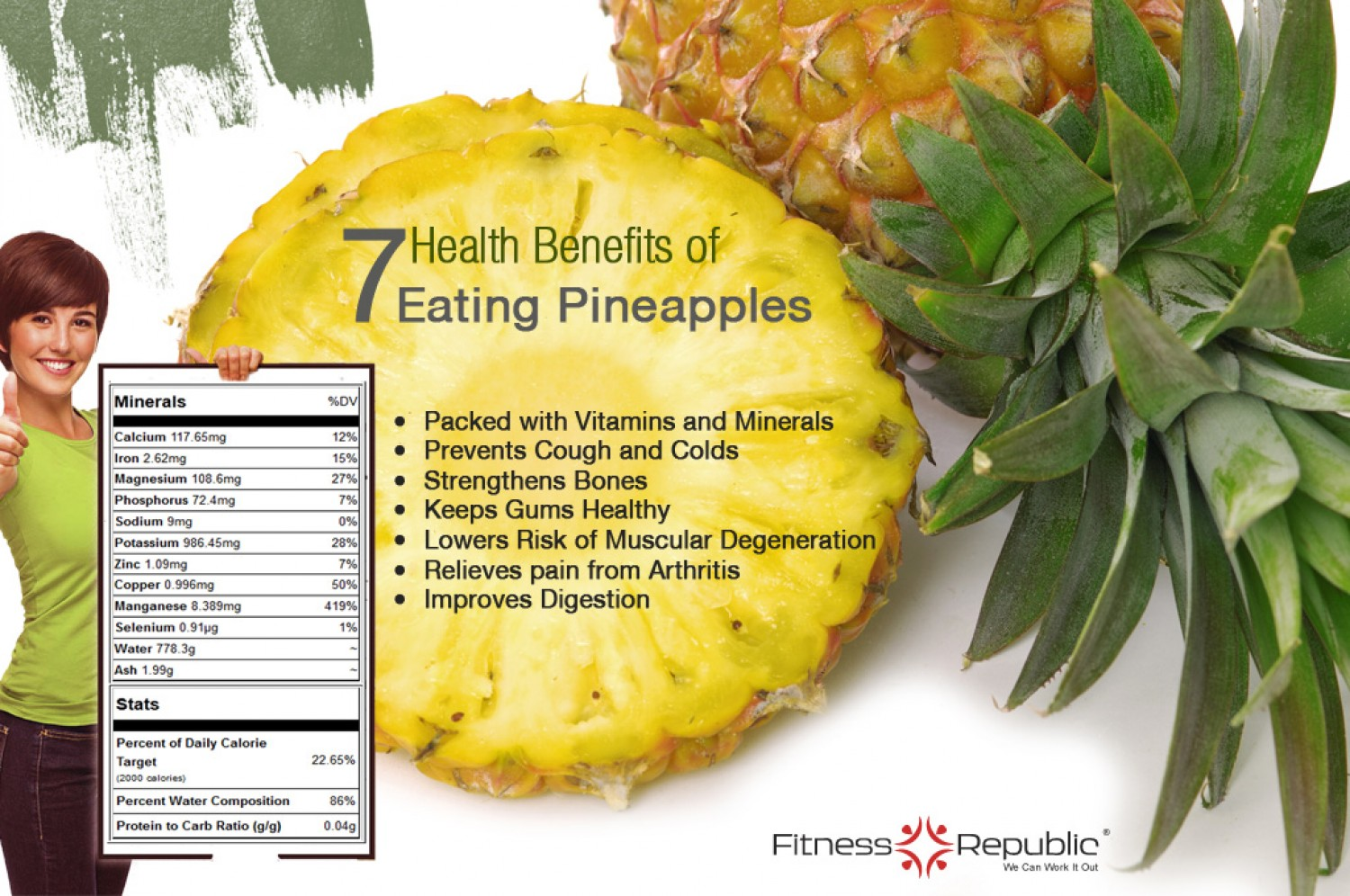 7 Benefits Of Pineapple Infographic