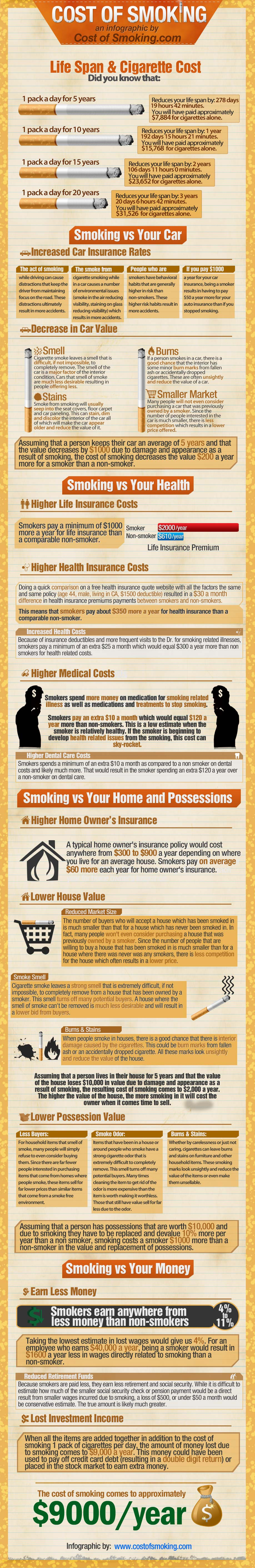 How Much Does Smoking Cost? Infographic
