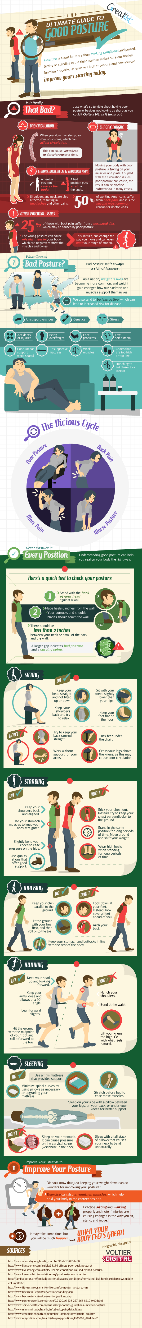 Good Posture Guide Infographic