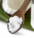 Close-up Of Coconut Oil On