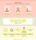 Yoga Poses to Balance 7 Chakras Infographic