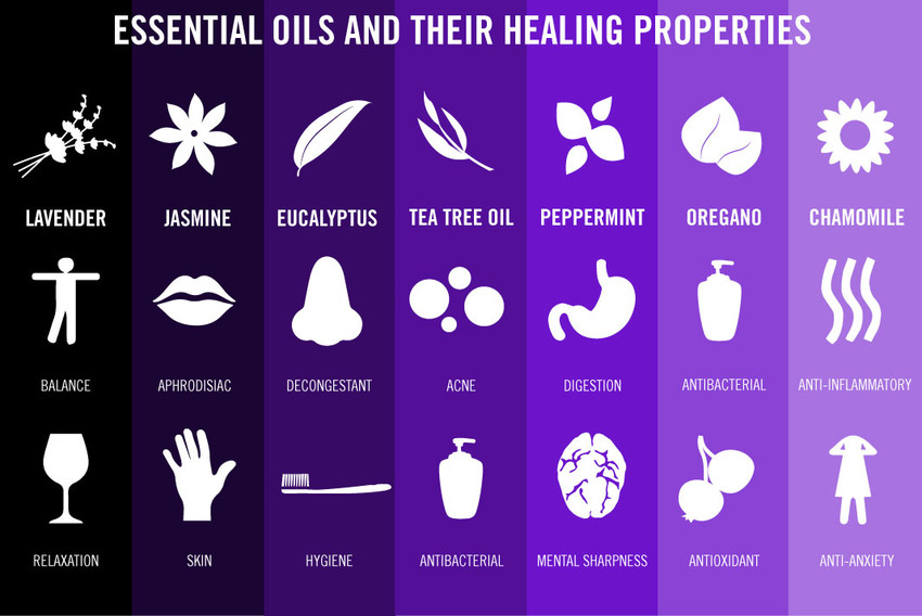 7 Essential Oils and Their Benefits Infographic