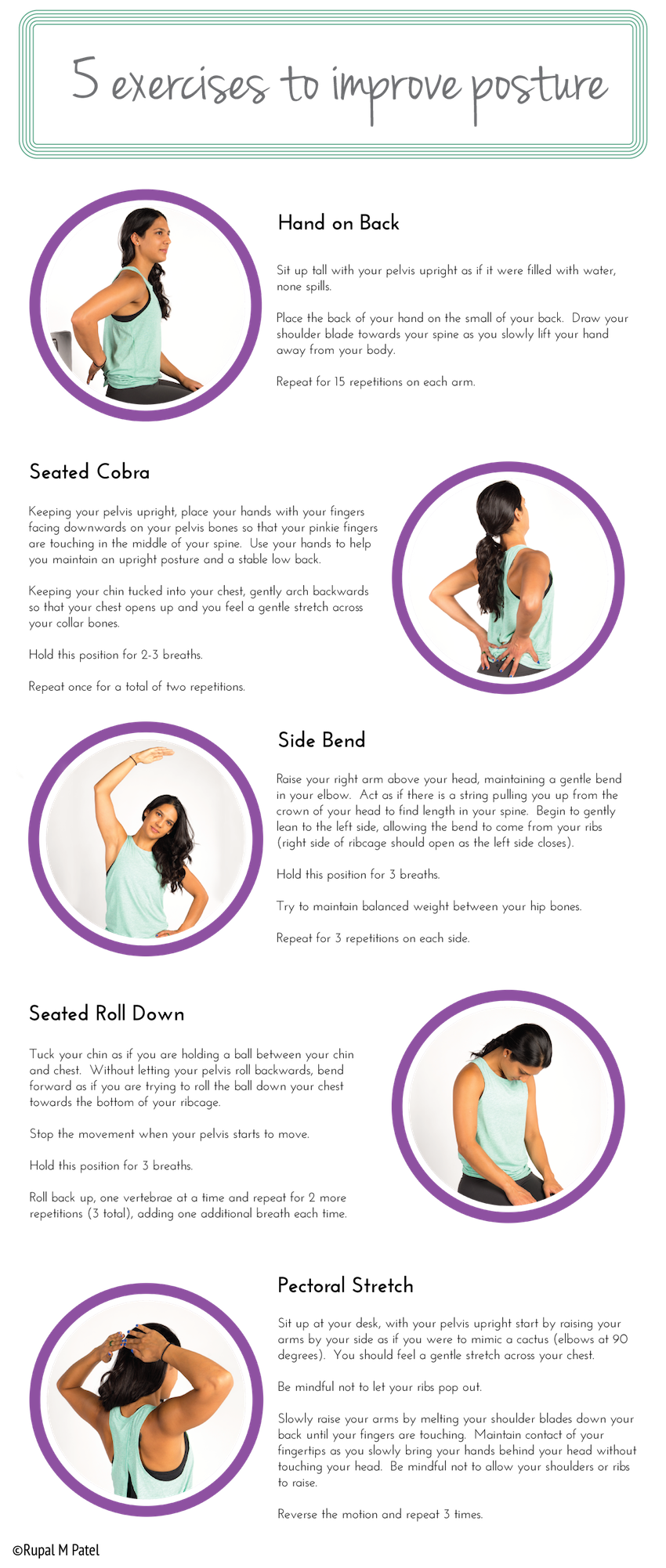5 Exercises To Perfect Your Posture Infographic
