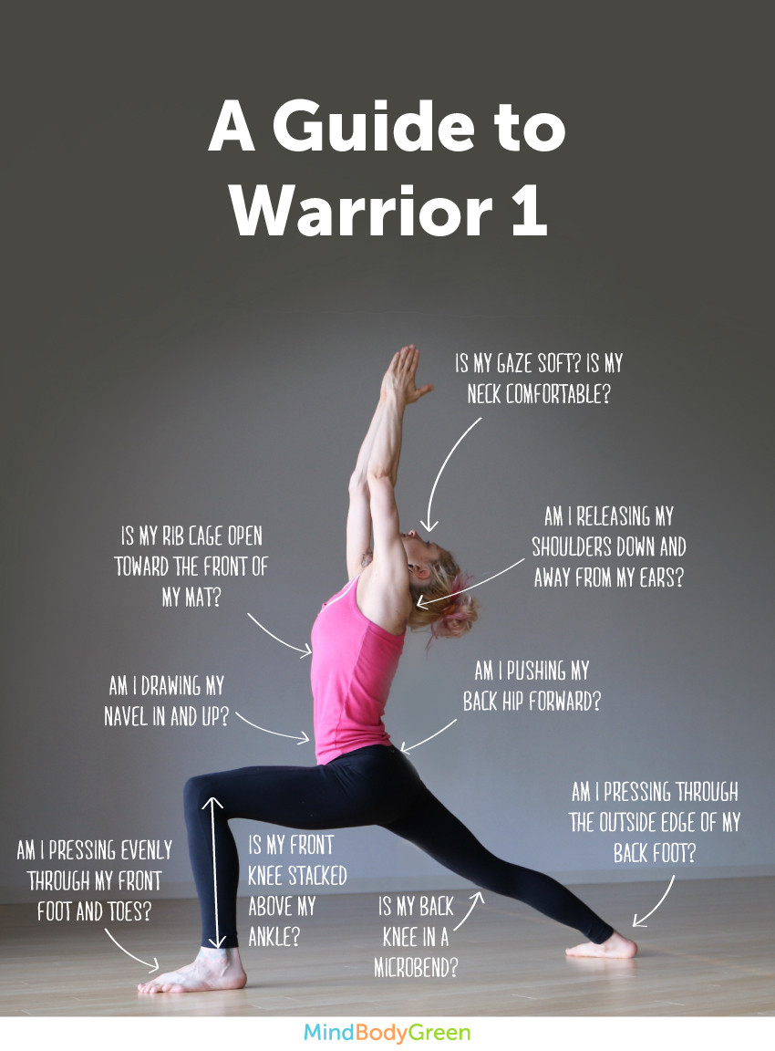 9 Tips To Do Warrior 1 Infographic
