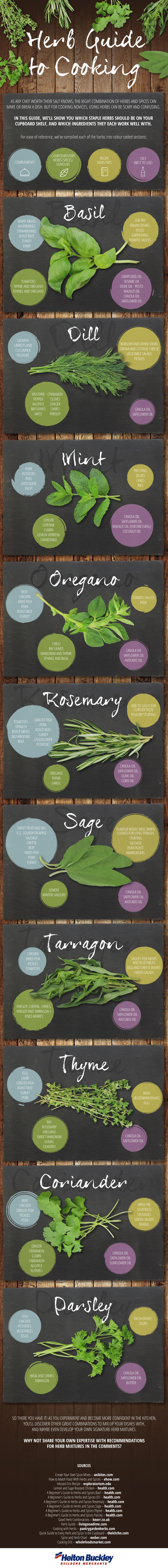 10 Herbs You Use When Cooking Infographic