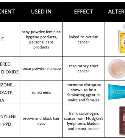 4 Harmful Skin Care Ingredients Infographic