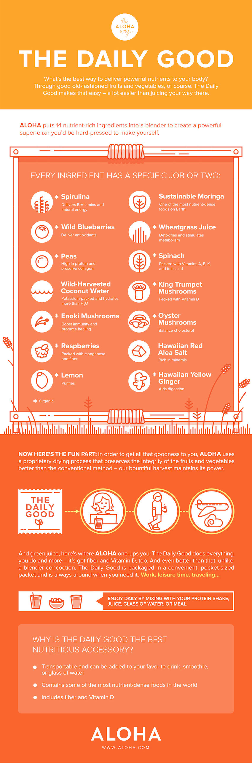 14 Nutritions For Your Juice Infographic