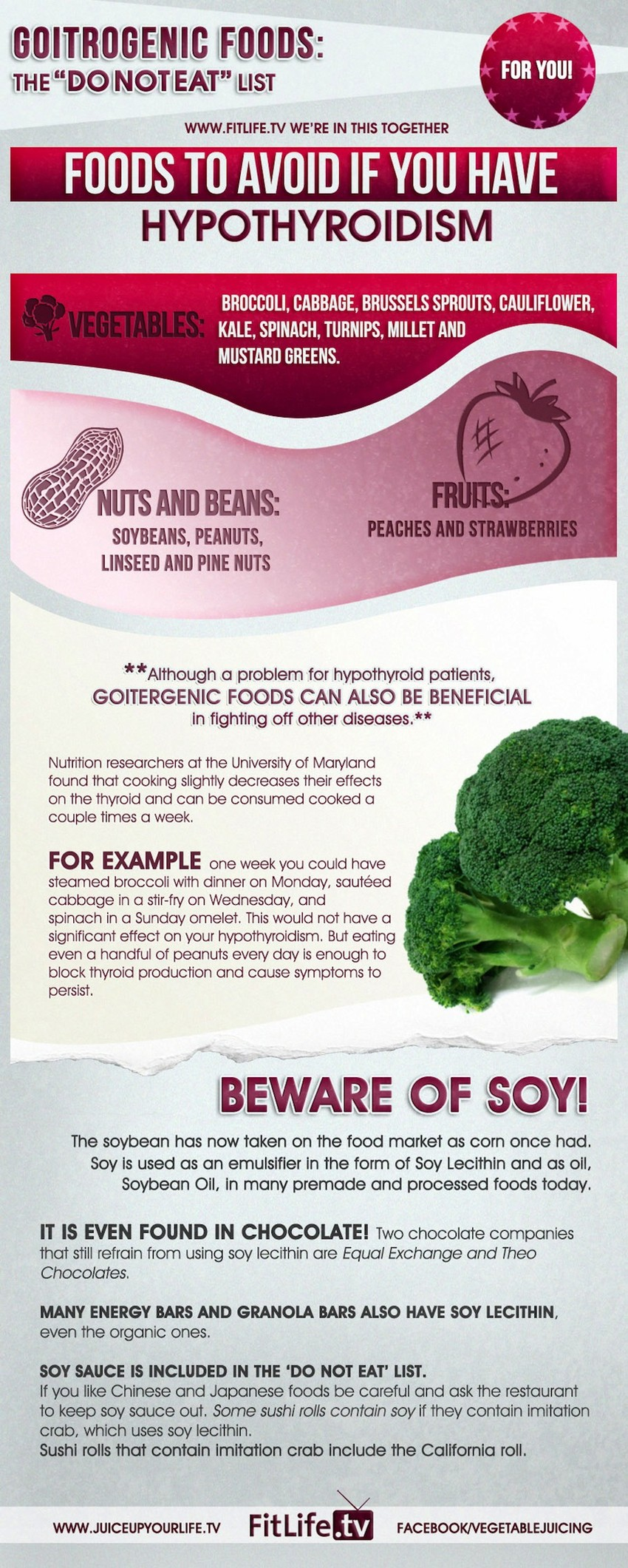 Do Not Eat List For Hypothyroidism Infographic