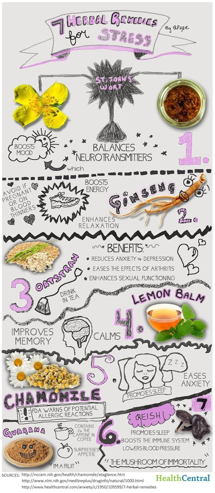7 Herbs For Stress Infographic