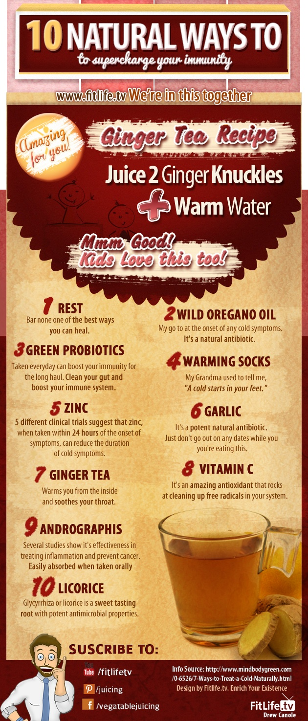10 Natural Ways To Boost Your Immunity Infographic