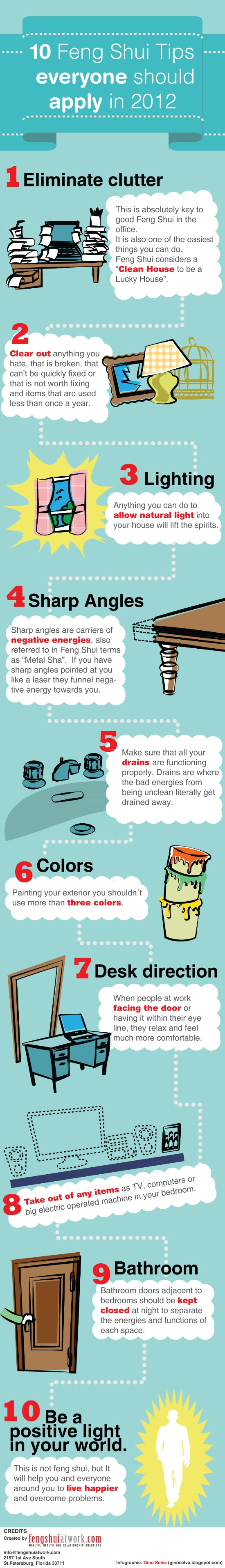 10 Feng Shui Rules Infographic