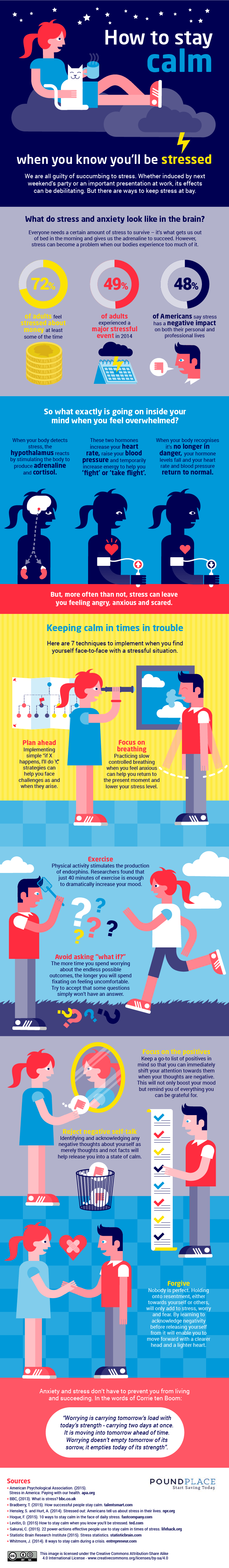 This Is How You Can Stay Calm In Stressful Situations Infographic