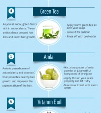 7 Powerful Natural Remedies For Hair Growth Infographic