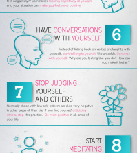 10 Steps To Improve Low Self-Esteem Infographic