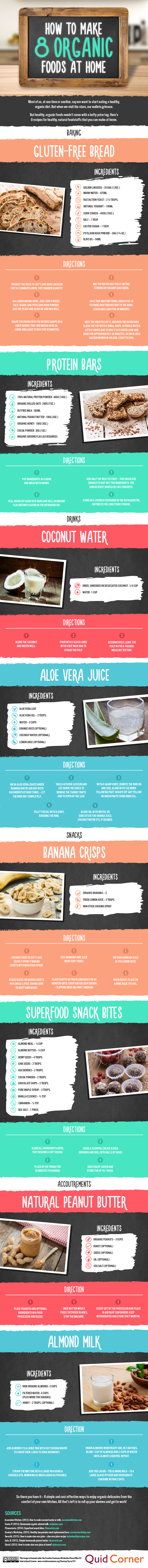 8 Organic Foods You Can Make At Home And Save Your Money Infographic