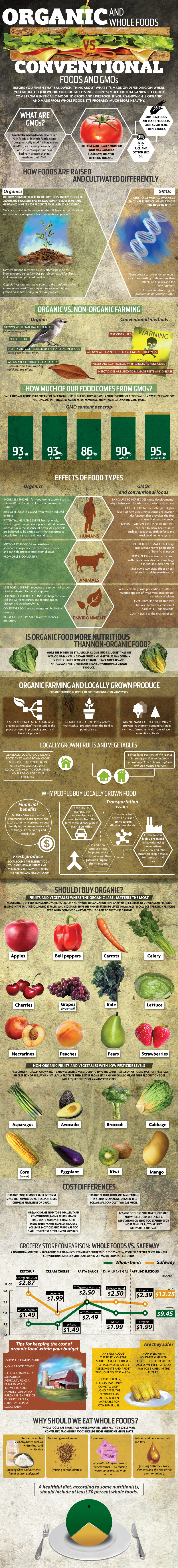 Learn More About Organic And GMO Food Infographic