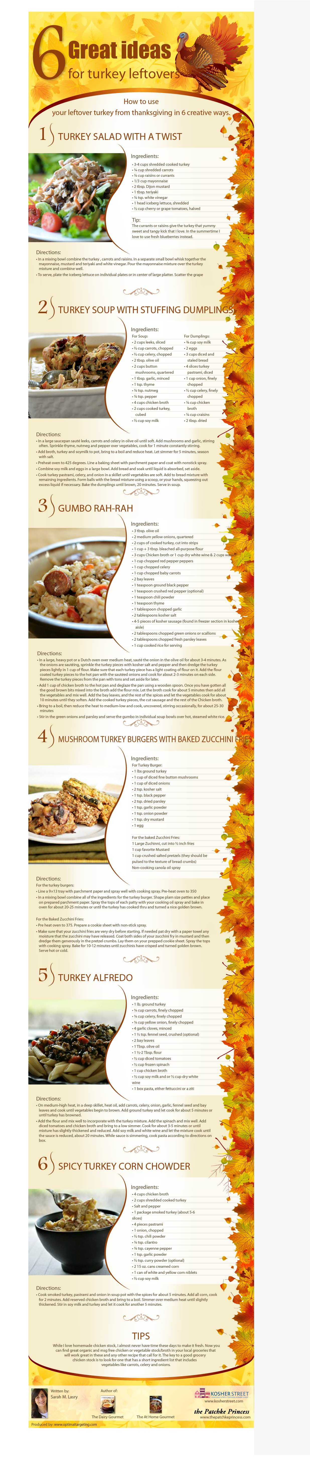 Thanksgiving Turkey Leftover Recipes For You To Try Infographic