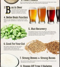 10 Surprising Health Benefits Of Drinking Beer Infographic