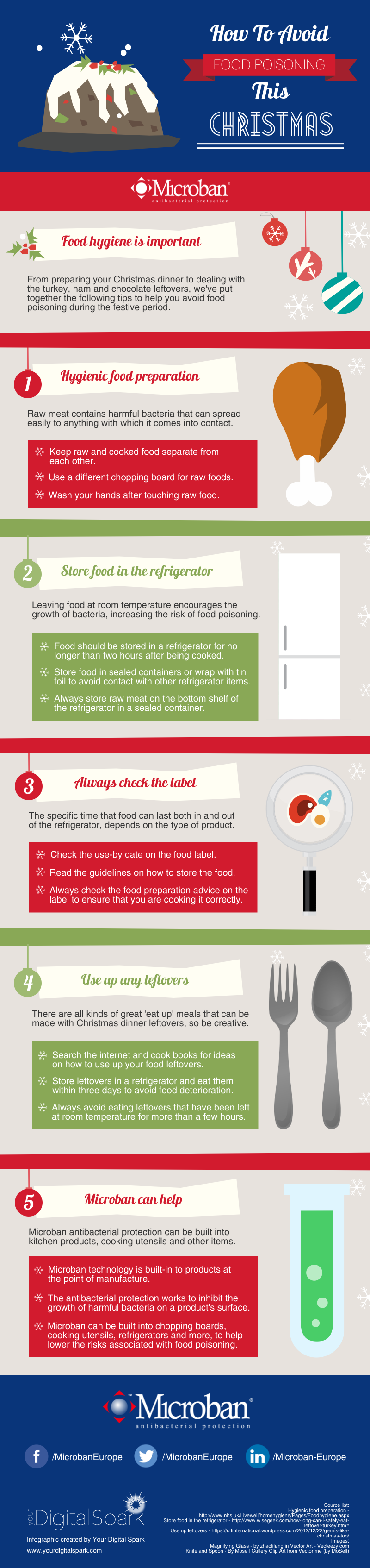 Make Sure To Avoid Food Poisoning This Christmas Infographic