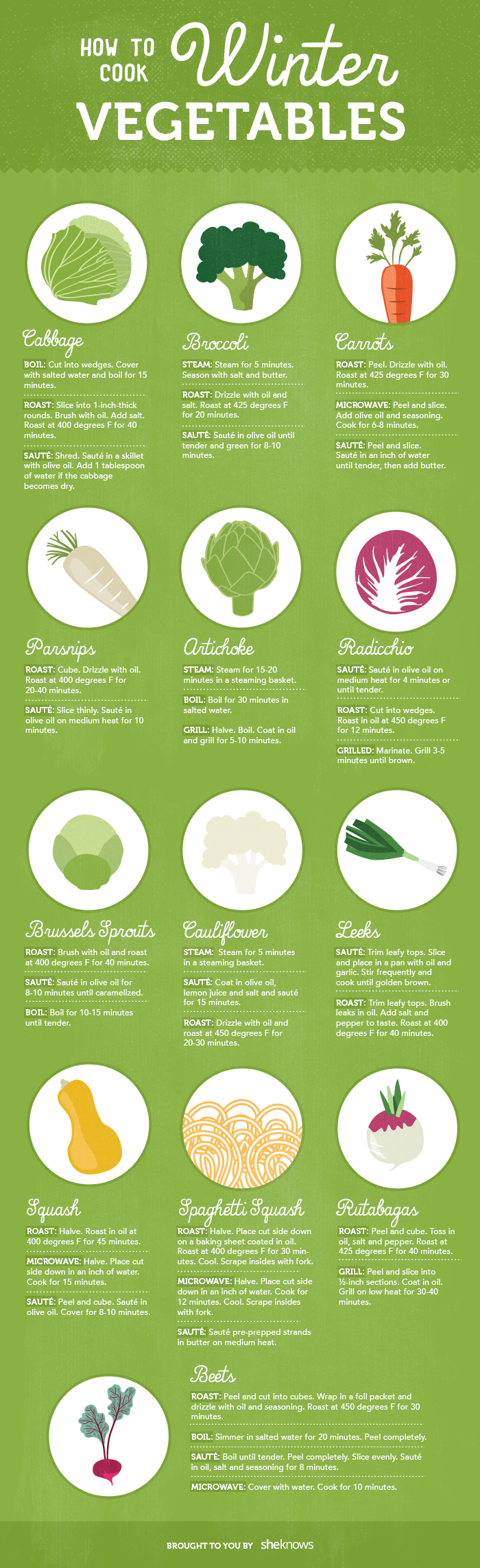 The Best Winter Vegetables And How To Cook Them Infographic