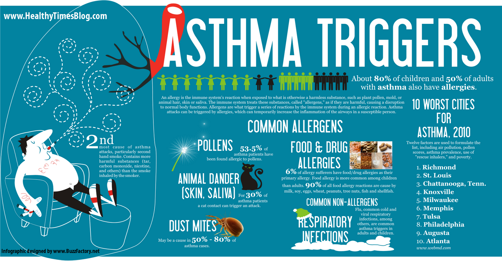 Asthma Triggers You Need To Be Aware Of Infographic