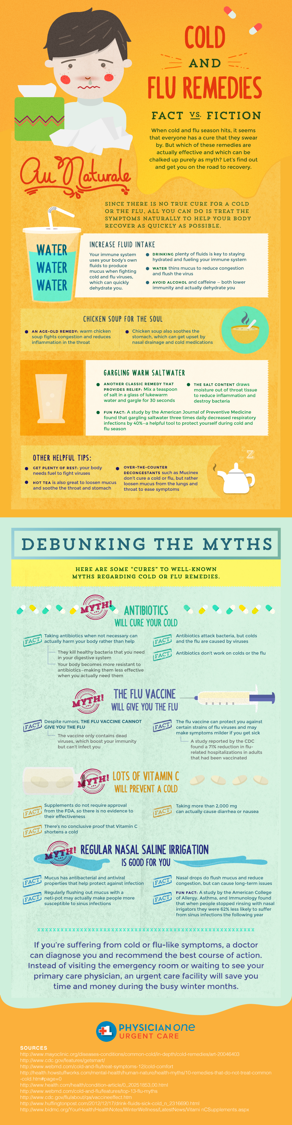 Cold & Flu Remedies: What's True And What's Fiction Infographic
