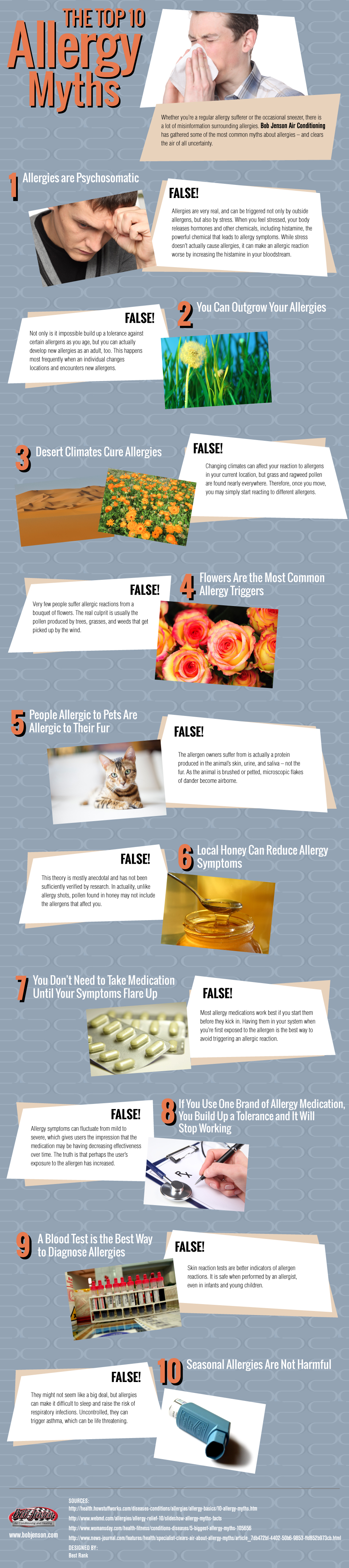 Top 10 Allergy Myths You Probably Still Believe Infographic