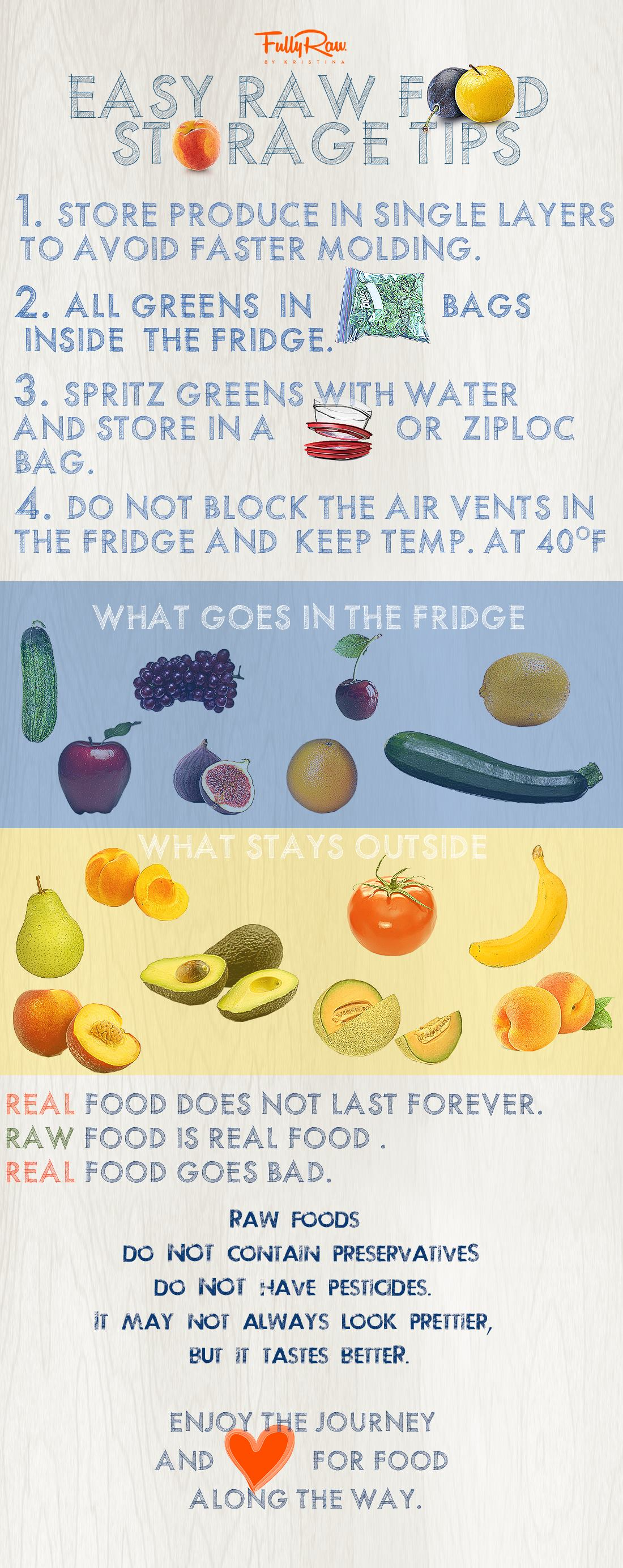 Everything You Wanted To Know About Raw Food Storage Infographic